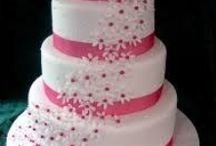 Wedding Cakes / A wedding cake is the traditional cake served at wedding receptions following dinner.