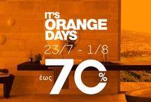 ORANGE DAYS @ PORCELANA / Orange Days at Porcelana! Επώνυμες προτάσεις, σε μοναδικές τιμές!  www.porcelana.gr