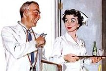 1950s Hospital / Nurse, Doctor, Lab, Medicine
