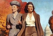 1940s Women's Fashion / Clothes, shoes, hair, makeup, accessories