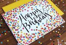 Kort - fødselsdag / Fødselsdagskort