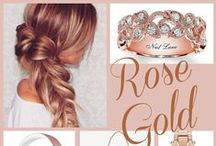 Rose Gold & Copper / Rose Gold, Rose Quartz, Blush, Rose, Jewelry, Watches, Shoes, Rings, Bracelets, Necklaces, Design, 2016 fashion, Home Décor, Copper, Make-up, Nail Polish, Kitchen, Desk, Office, Tech Accessories, Weddings, Marriage, Purses, Handbags, Pillows