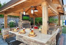 Backyard Enteraining / Parties, entertainment, entertaining, gatherings, family, bbq, home, design, inspiration, outdoors, landscaping, updates, sports, birthdays, family time, beer, grilling, men, decks, patios
