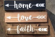 Home Signs / Signs, Décor, Home, Inspiration, Quotes, Sayings, Lifestyle, Crafts, DIY, Do it Yourself, family