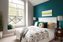 Room Ideas - Teal / Bedrooms, Living Rooms, Home, Kitchen, Entryways, Furniture, Rugs, Décor, Ideas, Inspiration, DIY, Products, Teal, Color Schemes, Color Palettes, Accents, Bathrooms, Dining Rooms, Purple, Gold, Yellow, Coral
