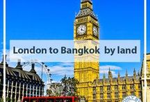London to Jakarta by land / An overland journey from London, England to Jakarta, Indonesia.  During this I take buses and trains.  I took both the trans Siberian and trans Mongolian trains.