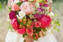 Wild painterly florals moodboard