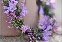 Arrangements in pastel palette / flower arrangements in pastel colors
