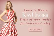 An Enchanted Valentine's Day / January 13 - 27, 2015 enter our Enchanted Valentine's Day Pinterest Contest for a chance to win a Kay Unger dress to wear on your Valentine's Day date! Follow our boards & look for your invitation to post your enchanted Valentine's Day pictures. Instructions can be found in the pins below! Good Luck   If you didn't receive your invitation to pin please email kayunger@zindigo.com