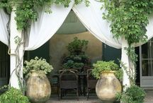Outdoor rooms and porches