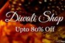 Diwali Sale / The much awaited Diwali Shopping fest is On! Buy your most desirable designerwear brands, from anarkali suits to lehengas, from sarees to shararas... menswear to home decor, jewellery to jootis... all at your one stop #Diwali #Shop at #Indianroots! Indulge...