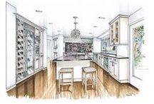 Transitional Kitchens / Transitional kitchens, transitional kitchen decor and ideas.