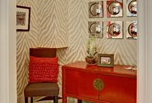 Wall treatments / Wallpaper , faux treatments, wood paneling, and anything decorative for the wall