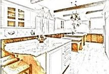 2015 Botox Renovation™ for Kitchen / Minor Kitchen renovation where we are using the existing cabinets just refinishing them. Simple updating the cabinets, same spot/footprint in the kitchen, updating with new appliances, tile, fixtures, less expensive, may not need permits if not moving the electrical or plumbing. Refinishing cabinets, grey cabinets, tile, new lighting, orange chandeliers, aqua accents, wallpaper, cost effective with a new look!