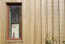 Revestimientos de madera. Fachadas