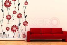 Stickere decorative florale / Stickere decorative cu motive florale pentru perete si alte suprafete netede.