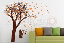 Natura - crengi, pomi - stickere decorative