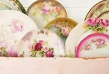 Vintage crockery / Ideas with china and earthenware/ ironstone.