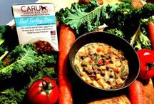 Caru Natural Stews / The only FDA verified ready-to-eat dog food that is made with 100% human grade ingredients and is prepared in a human food grade facility. Absolutely grain, gluten and GMO free!