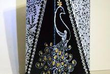 Black & White & Color / A bottle & a vase in black & white