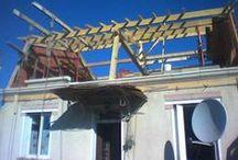 TEXAS Batiment : agrandissement 3 / Travaux d'agrandissement d'une maison au fil des étapes de démolition, de charpente, de ravalement et de couverture. Travaux effectué par TEXAS Bâtiment