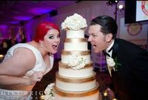 Gold Wedding Cakes by Party Flavors Custom Cakes