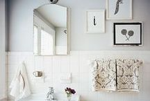 Bathroom Decor / Art is not only for the living room! Here are some of our favorite ways to add artwork the oft-overlooked bathrooms and powder rooms.  / by J. Pocker