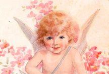 Dzieci, anioły / Decoupage dzieci, anioly