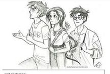 Book cross overs / Maze runner hunger games Percy Jackson divergent  Harry Potter and a lot more series cross overs