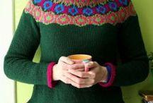 knit yoke / kniiting