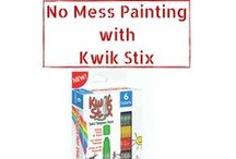 Mess Free Creativity / Tired of cleaning up the mess that is painting? Kwik Stix are perfect for allowing your children to enjoy the craft of painting without the messy clean-up! There is NO need for cups of water, paint brushes, or even smocks. AND, Kwik Stix dry in 90 seconds!
