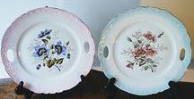 plates / Vintage plates and collectibles. Anything from fine dining to unique hand painted works  of art.