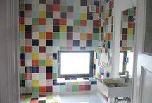 colorblocking.tegel.inspiratie / Over felgekleurde tegels / About brightly colored tiles (colorblocking)