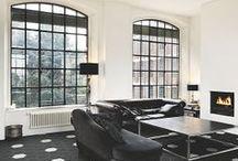 zwart.wit.tegel.inspiratie / Zwarte & witte tegels, geblokt als dambord of strak modern / Black & white tiles, blocked as checkerboard or modern style