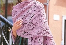 crochet shawls,capes,ponchos,scarfs etc