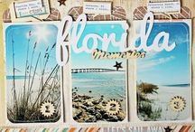 SCRAPBOOK 5:  Beach pages / Scrapbook ideas for all our beach holidays