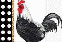 Printables:  Roosters, hens & chickens / Illustrations of roosters, hens & chickens of all kinds
