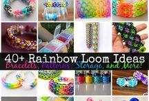 Rainbow loom / Cute and cool designs to create  / by Abbie Lancaster