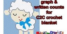 C2C crochet / c2c, C2C graph, C2C patterns, tutorials, ideas