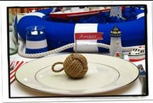 Nautical Theme Ideas / Here are some decorating ideas I like for a Nautical theme party or event.
