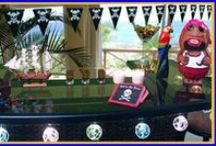 Pirate Theme Ideas / National Talk Like a Pirate Day is September 19, but it's always the perfect time to shake your booty to the tune of a sea shanty and enjoy the rum before it's gone. Here are some fun Pirate Party decorating ideas!