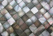 Seashell MOP Tiles / MOP mosaic tiles made of natural seashell,high end mother of pearl mosaic tiles for luxury commercial and individual projects.