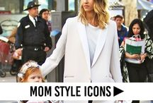 Mom Style Icons / Motherhood can be the ultimate style statement. Take a cue from these chic and stylish moms and moms-to-be.  Mom style icons, celebrity mom fashion, famous moms, famous mothers fashion, celebrity mom fashion, model mom fashion, actress mom fashion.