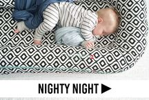 Nighty Night / There's much ado about how to get a baby to sleep. To get your little on in the mood for bedtime, invest in cute pajamas, sweet night time accessories, and classic bedtime stories. Baby sleep, toddler sleep, sleep tips, helping your child to sleep, how to improve sleep, baby sleep patterns, bedtime sleep routines, how to establish bedtime routines with children, newborn sleep, how to set a bedtime routine, night time routines for babies, night time routines for toddlers, sleep advice babies.