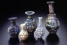 verre romain - aryballes et amphorisques