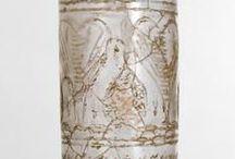 verre romain - décors à froid