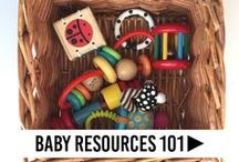 Baby Resources 101 / All things baby related! Tips for newborns, tips for new parents, sleep resources for babies, introducing solids, baby food recipes, toddler food ideas, safety for babies, developmental activities, normal development infants, parent hacks