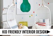 Kid Friendly Interior Design / Why not have a beautiful home AND for it to be child friendly? We love homes that are designed for real life and take our kids into account. Kid friendly homes, kid friendly interiors, ideas for family friendly homes, family friendly interior design, designing a home for the whole family.
