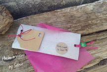 Recycled Packaging / Colección de cajitas y embalajes reciclados hechos a mano a elegir con el producto para regalo.
