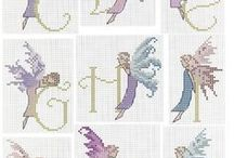 Letters en woorden borduren. / Leuk om kleine dingen mee op te leuken!